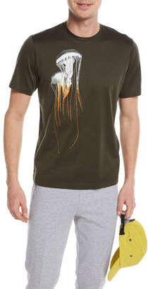 Z Zegna Jellyfish-Graphic Cotton T-Shirt