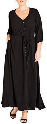 City Chic Simple Texture Maxi Dress
