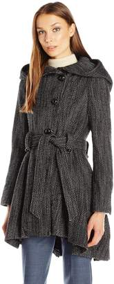 Steve Madden Women's Single Breasted Drama Coat