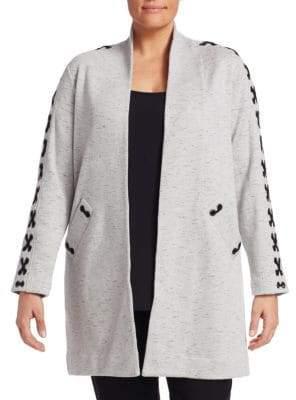 Nic+Zoe Plus Crisscross Open-Front Jacket