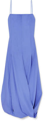 Jacquemus Nahil Draped Crepe De Chine Dress - Purple