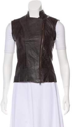 Improvd Leather Zip-Up Vest