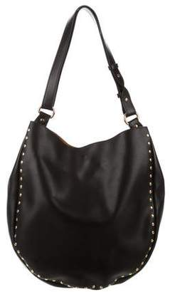 Barneys New York Barney's New York Leather Studded Hobo