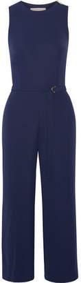 MICHAEL Michael Kors - Crepe De Chine Wide-leg Jumpsuit - Midnight blue $175 thestylecure.com