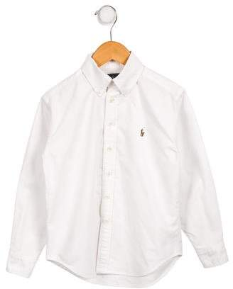 Ralph Lauren Boys' Woven Button-Up Shirt
