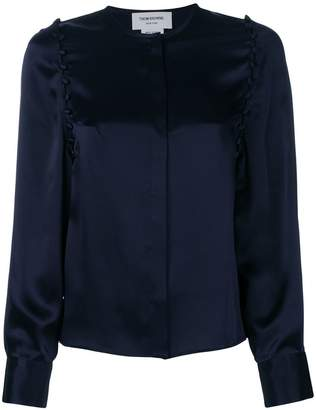 Thom Browne Bridal Button Silk Blouse