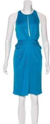 Issa Silk Sleeveless Dress Cyan Silk Sleeveless Dress
