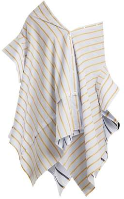 Palmer//harding - Off The Shoulder Striped Cotton Shirt - Womens - Yellow Stripe