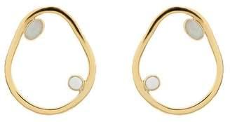 Cornelia Webb gold metallic Pearl silver hoop earrings
