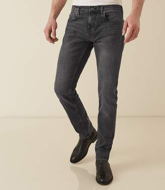 Reiss PUSHER Tapered Slim-Fit Jeans Washed Black