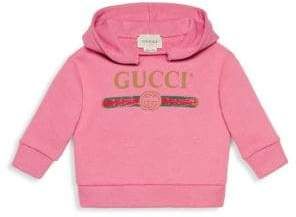 Gucci Baby Girl's Logo Hoodie - Pink - Size 6-9 Months