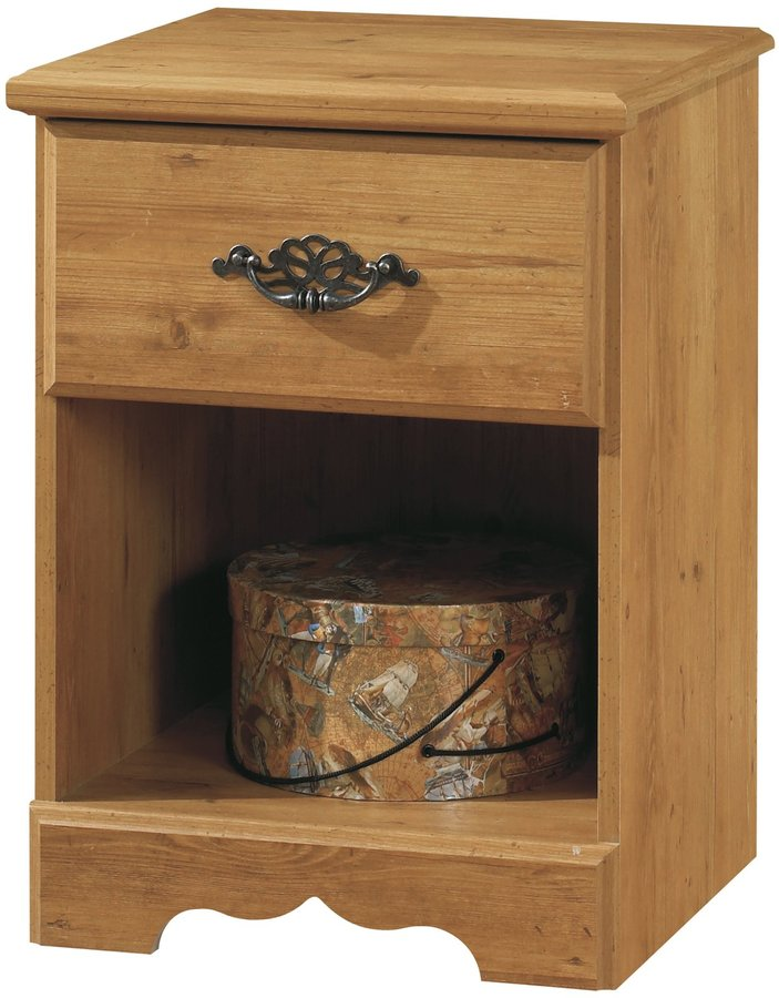 Green Baby South Shore Prairie Collection 1 Drawer Night Stand - Country Pine