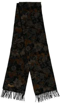 Loro Piana Floral Pattern Flannel Scarf