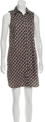 Michael Kors Printed Button-Up Dress
