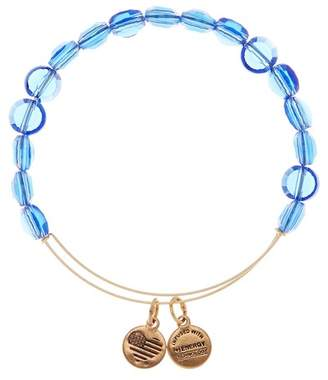 Alex and Ani Sapphire Luxe Expandable Wire Bangle