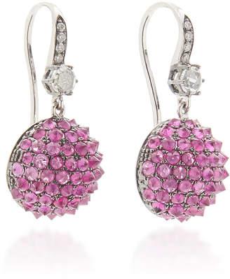 Nam Cho 18K Gold, Ruby And Diamond Earrings