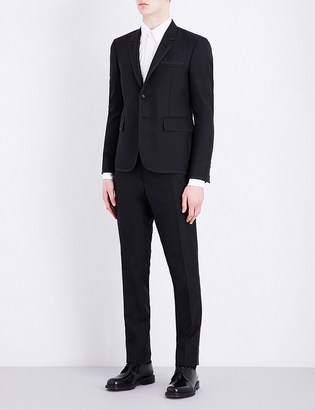 Thom Browne Notch lapel wool and mohair-blend tuxedo $2,535 thestylecure.com