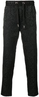 Dolce & Gabbana contrast side stripe brocade track pants