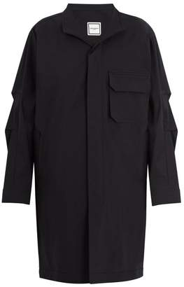 Wooyoungmi - Patch Pocket Cotton Blend Overcoat - Mens - Black