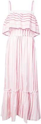 Lemlem striped ruffled front dress