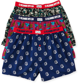 Billionaire Boys Club Multi-Print 3-Piece Boxer Gift Set $125 thestylecure.com