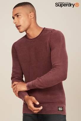 Next Mens Superdry Garment Dye Textured Jumper