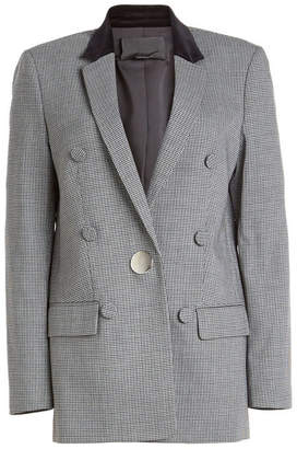 Alexander Wang Printed Blazer with Virgin Wool