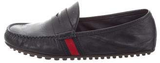 Gucci Leather Web Loafers