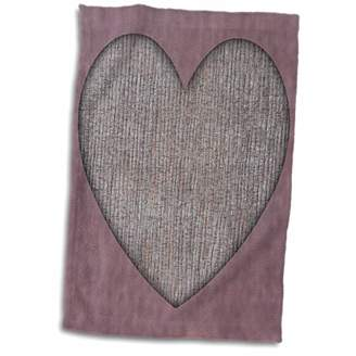 "3D Rose Burgundy Heart TWL_28070_1 Towel 15"" x 22"""