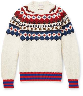 Moncler Fair Isle Wool-Blend Sweater