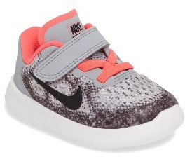 Infant Girl's Nike Free Run 2017 Sneaker $48 thestylecure.com