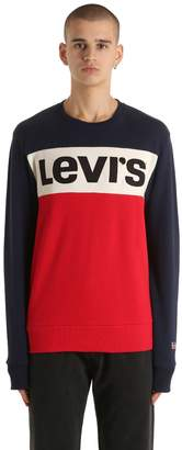 Levi's Color Block Logo Cotton Sweatshirt