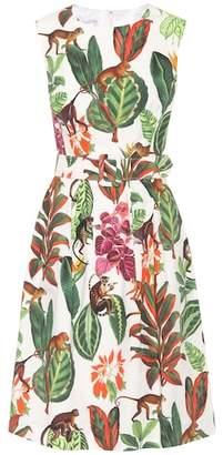 Oscar de la Renta Printed silk and cotton dress