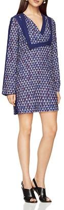 BCBGMAXAZRIA Geo Print Shift Dress $248 thestylecure.com