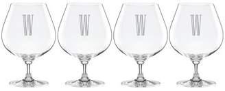 Lenox Charcoal Diamond Tuscany Monogram 22 oz. Crystal Snifter Glass