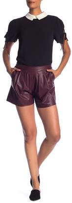 Cynthia Steffe CeCe by Faux Leather Shorts