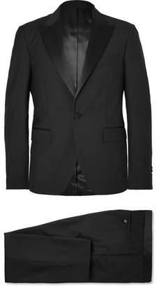 Privee SALLE Black Gaspar Slim-Fit Satin-Trimmed Wool And Mohair-Blend Tuxedo