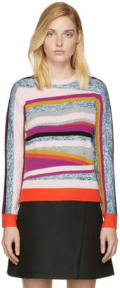 Kenzo Pink Broken Stripes Sweater