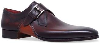Magnanni Opanka Curved Single Monk Shoes