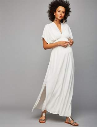 Splendid Ella Moss Gauze Maternity Maxi Dress
