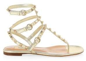 Valentino Rockstud Thong Gladiator Sandals