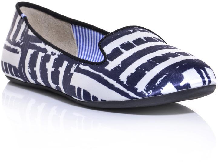 Charles Philip Shanghai Sheila brick stripe-print slippers