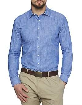 Geoffrey Beene Malibu Linen Print Shirt