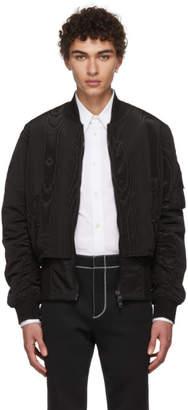Givenchy Black Trompe LOeil Bomber Jacket