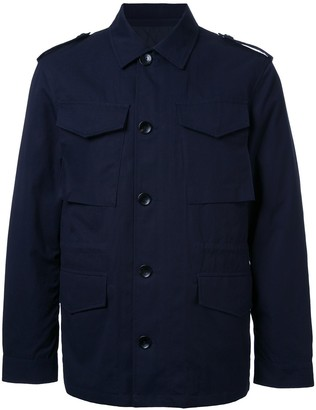 Kent & Curwen detaachable quilt lined military jacket