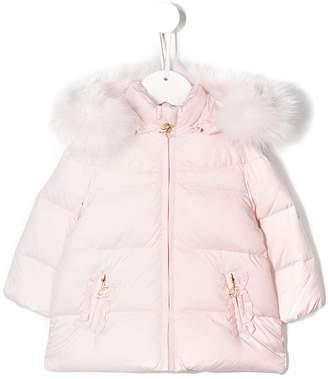 Miss Blumarine hooded padded jacket
