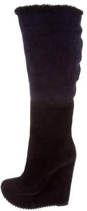Saint Laurent Wedge Knee-High Boots