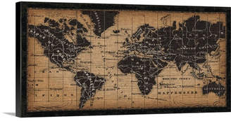 Great Big Canvas 'Old World Map Graphic Art Print