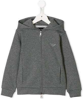 Emporio Armani Kids full-zipped logo hoodie