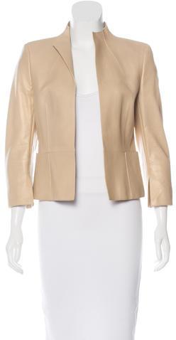 AkrisAkris Leather Tailored Jacket w/ Tags